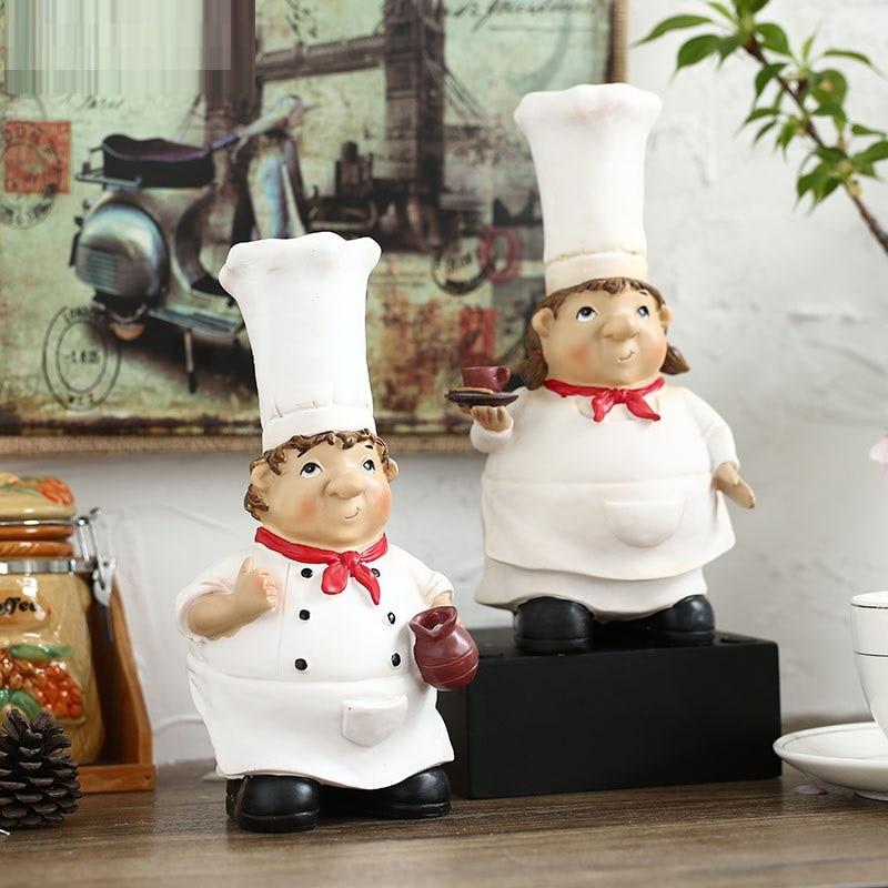 Ec diario cocina camarero cocinero resina pareja creativa pastoral europea mesa envÍo gratuito.jpg