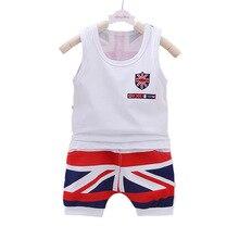New rice childrens dress boys summer wear boy baby vest shorts two-piece set