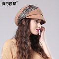 2016 New Lady Fashion Wool Beret Hat Women Fedoras Cap  Autumn Winter Elegant British Party Hat Female Headwear B-1928