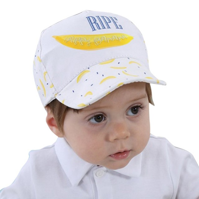 2b3a6d7952c0 Baby Kids Boys Girls Summer Baseball Caps Hat Cute Banana Printed ...