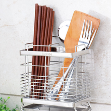 Stainless steel hanging chopstick cages spoon holder fork rack  knife shelves reinforced kitchen supply cutlery organizer chopstick cage kitchen rack wall mounted shelf receives water draining chopstick barrel knife holder kitchen knife holder