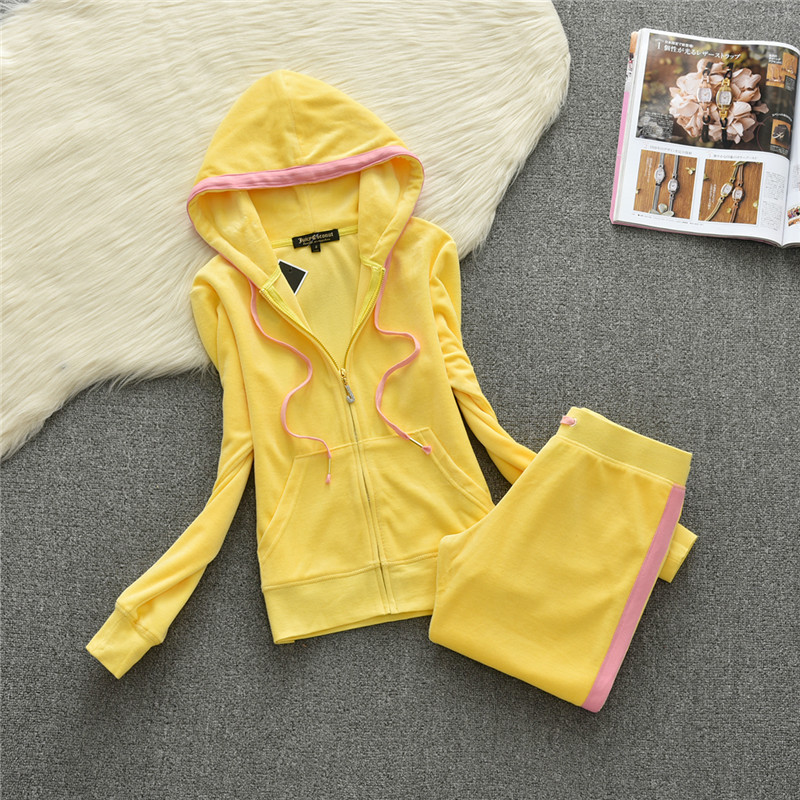 2018 Women Yoga Set Fitness Clothing Jumpsuit Sport Suit Woman Tracksuit Gym Running Set Wear Velvet Sports hooded Sweater Shirt