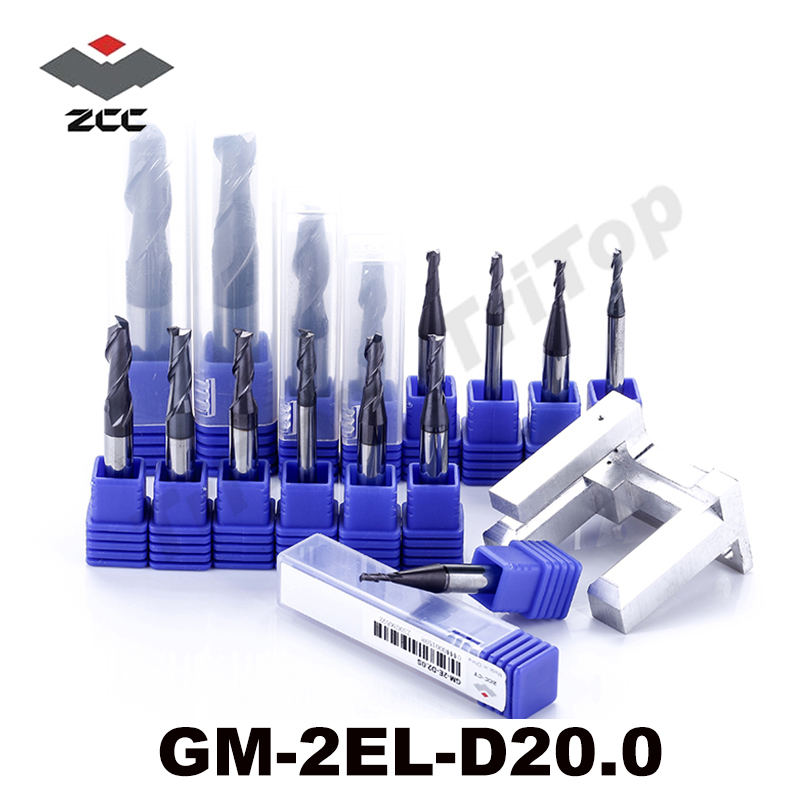 ZCC.CT GM-2EL-D20.0 Solid Carbide 2 flute flattened Long cutting edge end mills with straight shank  tungsten carbide drill bits