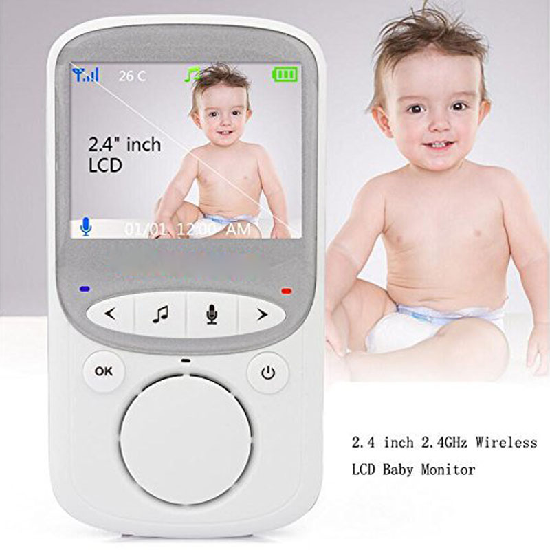 2.4GHz Smart Wireless Video Monitor With LCD Display Night Vision Temperature Monitors For Elderly Baby Pets LCC77 wireless pager system 433 92mhz wireless restaurant table buzzer with monitor and watch receiver 3 display 42 call button