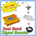 LCD Display DCS 1800MHz + GSM 900Mhz Dual Band Mobile Phone Signal Booster , Cell Phone Signal Repeater + Antenna + Cable