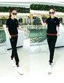 Женщины 2 шт. наборы с коротким рукавом футболка топ и тонкий длинные брюки случайные костюмы летом элегантная Дама плюс размер набор bodycon