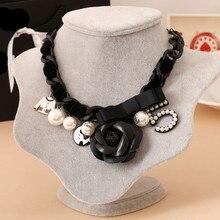N53 цветок камелии Макс винтажное ожерелье роскошный бренд Colar Feminino Jewlery колье женские Чокеры ожерелье Новинка для женщин