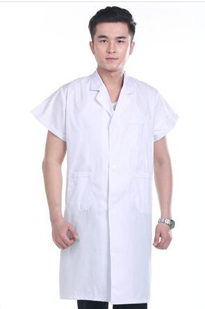 Белая короткая женская униформа для медсестры, больничная медицинская униформа, одежда, скрабы, униформа для гостиничного бизнеса, женские лабораторные пальто, униформа 90 - Цвет: Men White