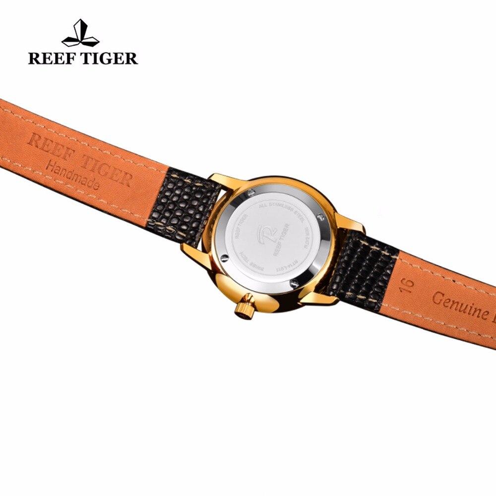 Reef Tiger / RT դեղին ոսկուց ծայրահեղ բարակ - Տղամարդկանց ժամացույցներ - Լուսանկար 6