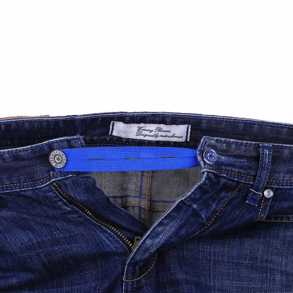 Elastic Waist Extenders Strong Adjustable Pants Button Extenders Comfy Clothiers extension buckle Waist pants extension belt1D13