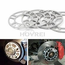 4pcs 범용 자동차 알루미늄 3mm 5mm 8mm 10mm 휠 스페이서 심 플레이트 4 5 스터드 4x100 4x114.3 5x100 5x108 5x114.3 5x120
