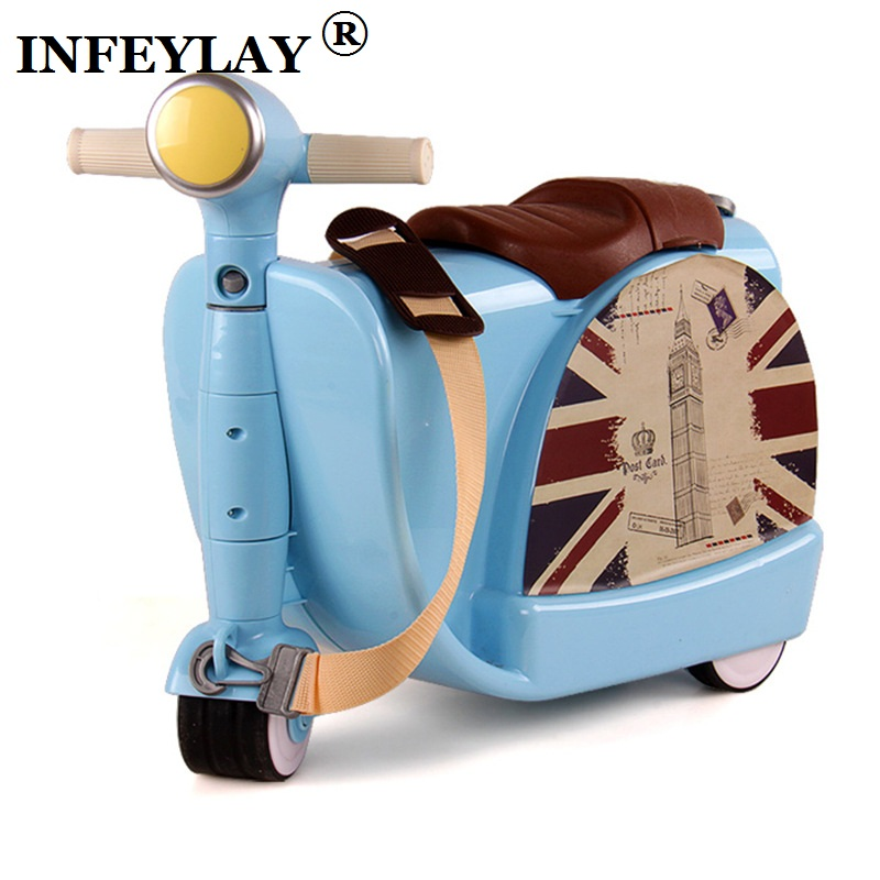 Children Travel locker handbag boy girl baby creative Toy box luggage suitcase Pull rod box Can sit to ride Check box child gift