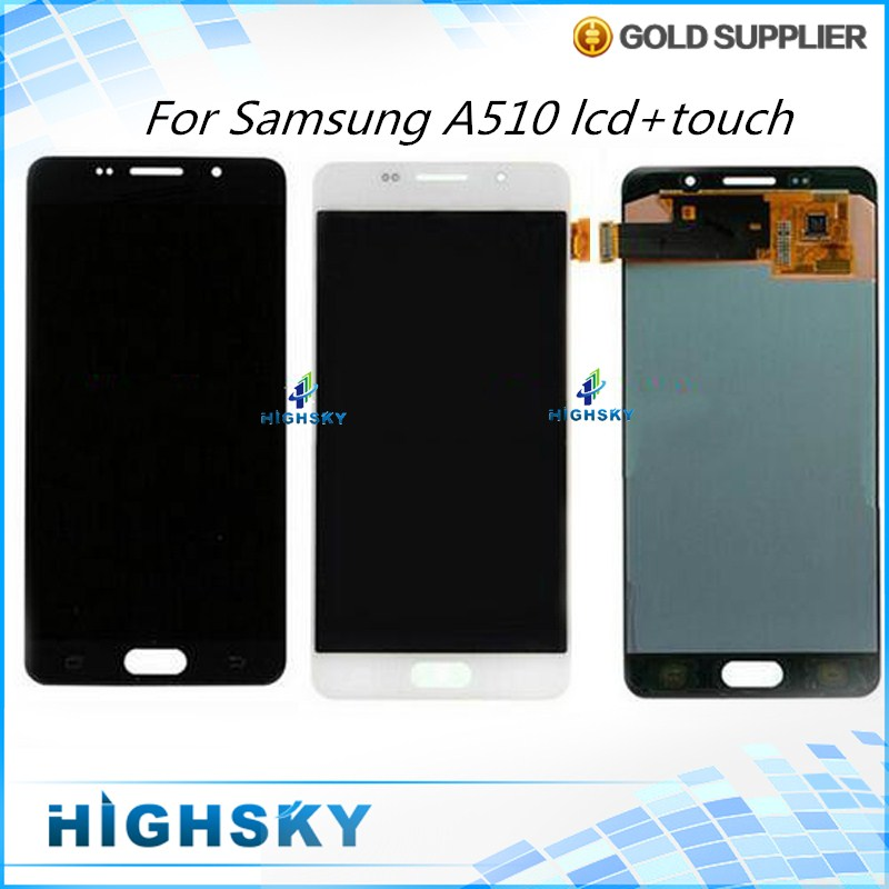 New Tested 5 pcs/lot LCD For Samsung Galaxy A5 A51 A510 A5100 Display With Touch Screen Digitizer Assembly Free DHL EMS 5 pieces lot free dhl ems shipping tested for samsung galaxy s6 edge lcd display sm g925 g9250 screen with touch digitizer