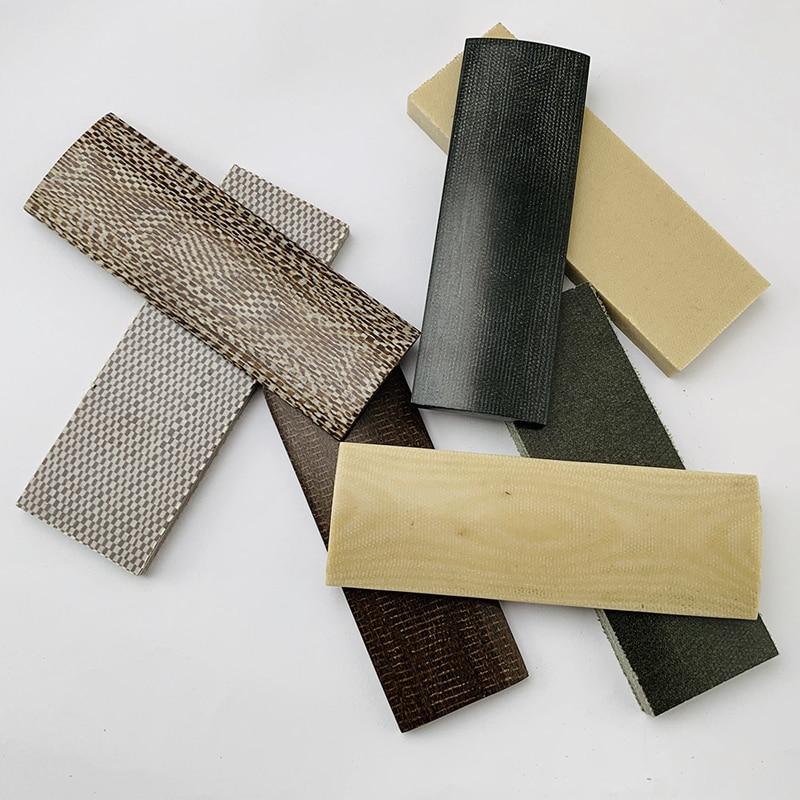 2pcs Making Knife Shank Material Mikata Material DIY Knife Handle Space Board Linen Plate 120x40x7mm 120x40x9mm 160x50x9mm