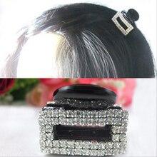 Мода женщин hairclaws горный хрусталь женщин мини зажим для волос волосы когти аксессуары для волос супер сияющий головные уборы бесплатная доставка