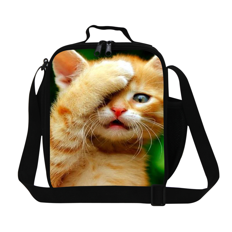 Cute Cat Lunch Cooler For Kids Girls Insulated Lunch