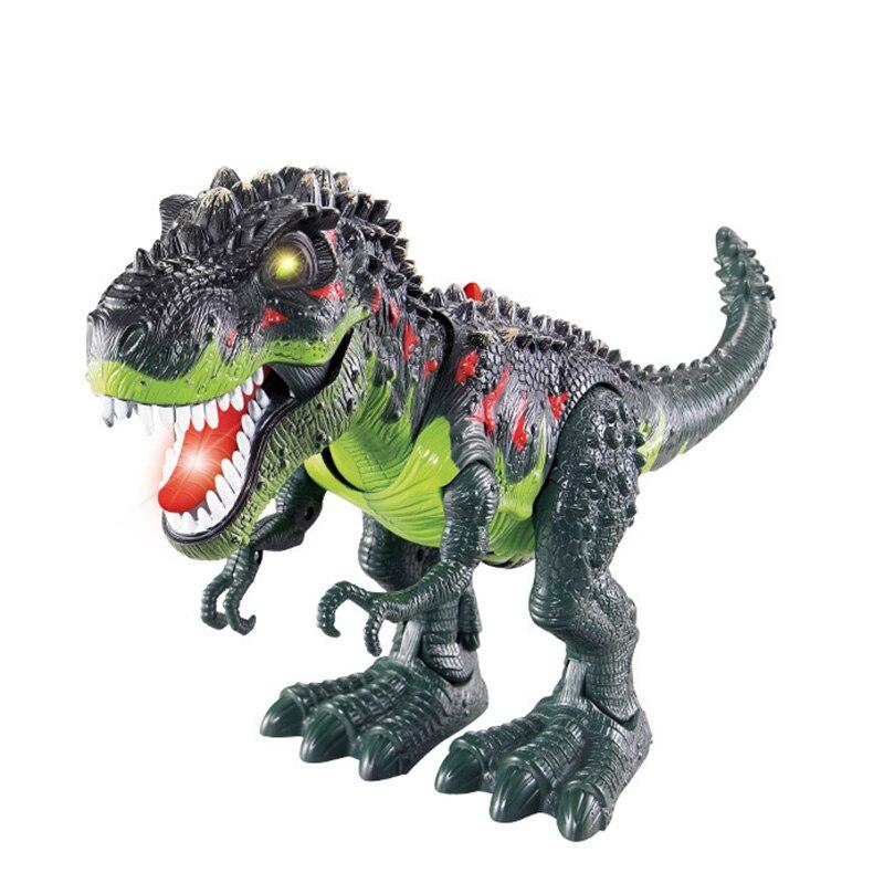 48cm robo dinossauro tiranossauro dragao eletronico brinquedo animal andando com som luz da bateria operado kid