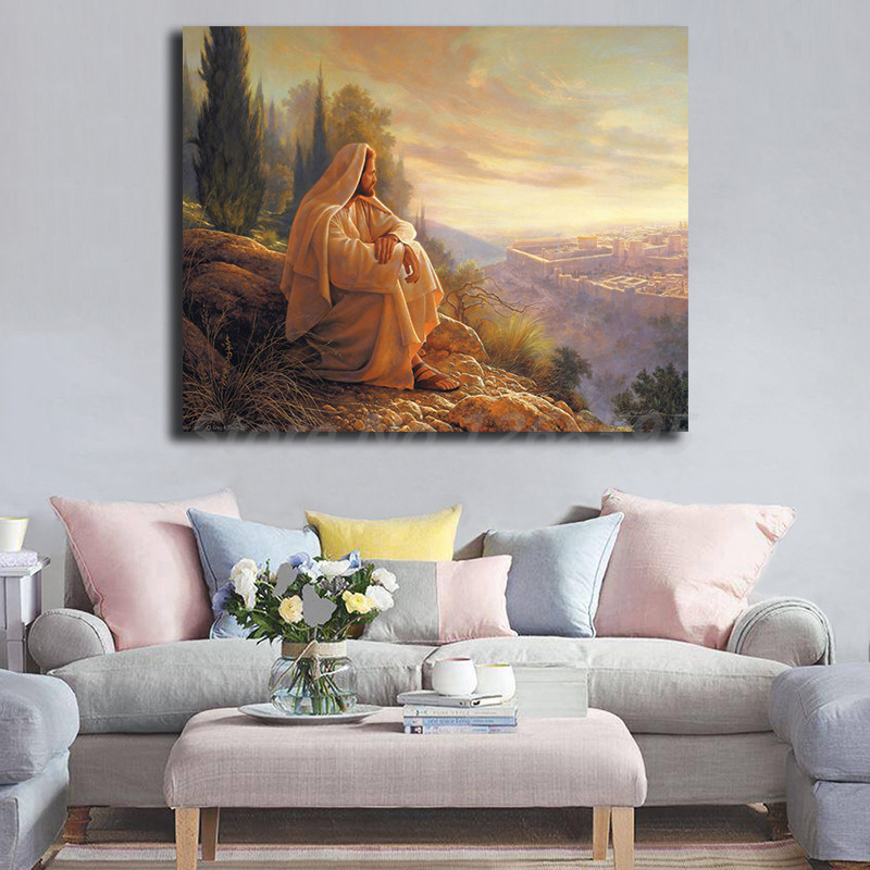 Jesus Christ Greg Olsen HD Wall Art Canvas Poster And Print Canvas Painting Decorative Picture For Office Living Room Home Decor