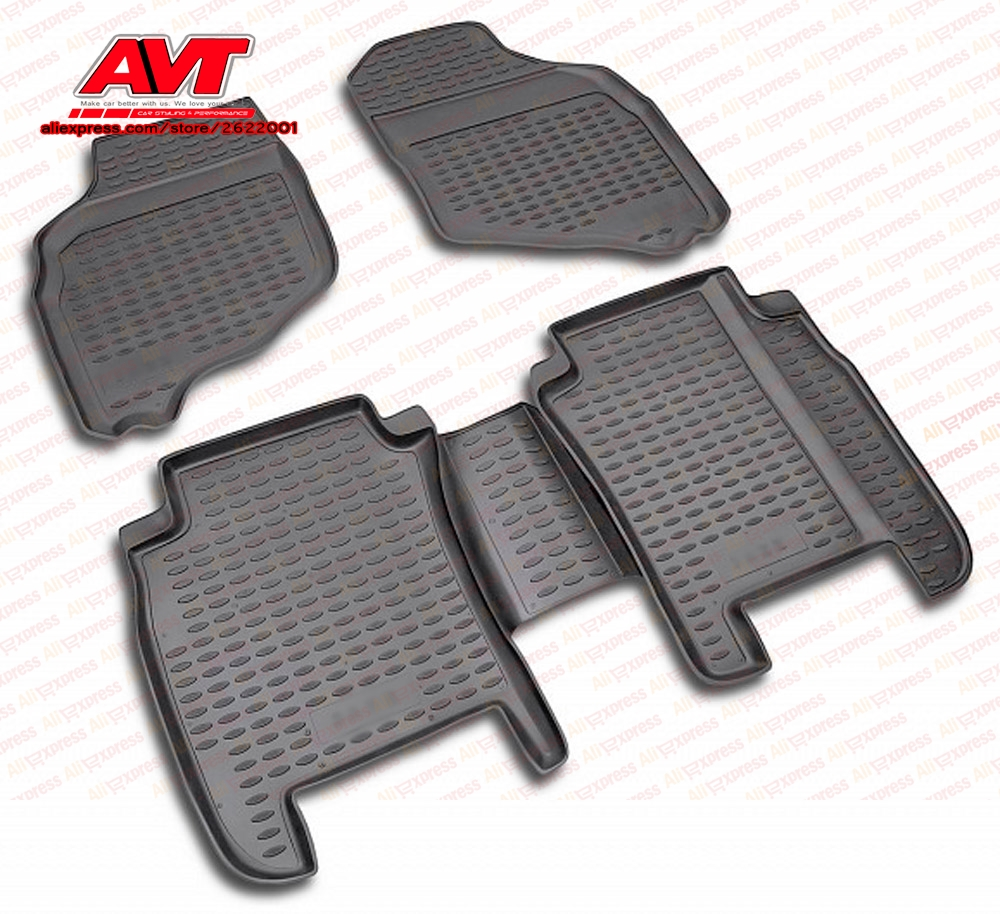 Floor mats case for Honda Jazz 2001-2008 4 pcs rubber rugs non slip rubber interior car styling accessories
