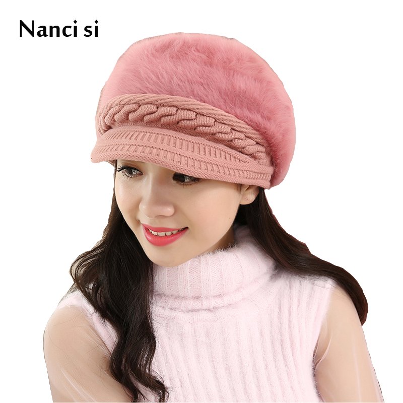 Brand Nanci si Winter   Beanies   Knit Hat   Skullies   Caps Hats For Women Ladies   Beanie   Girls Bonnet Femme Snapback Wool Warm Hat