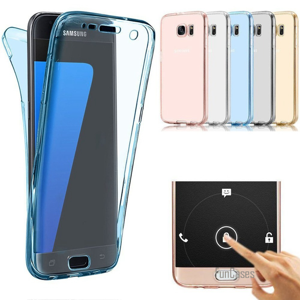 360 Soft TPU Case For <font><b>Samsung</b></font> S8 Plus S7 Edge S6 A3 A5 <font><b>2016</b></font> A7 J3 <font><b>J5</b></font> J7 2017 Europe Version Full body Cover For iPhone 7 8 X 6S image