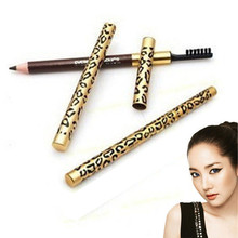 1 Pcs Sexy Leopard Brown Eyebrow Pencil Easy to use Waterproof Eye Liner Pen Beauty Makeup Brush Eye Cosmetic Tool Free Shipping 1 8bjd doll pukifee halloween free eye to choose eye color