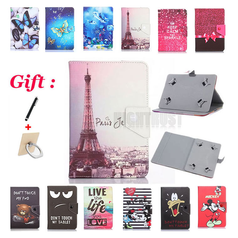 Universal 8 inch Cartoon Pu Leather Stand Case for <font><b>DEXP</b></font> Ursus S280 <font><b>P380i</b></font> NS180 3G 4G 8
