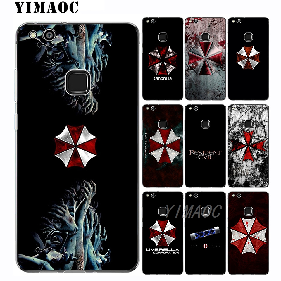 e21d1cf149f Y9 Y7 Resident Evil Umbrella logo Soft Case for Huawei Mate 20 10 P20 P10  P9 P8 2015