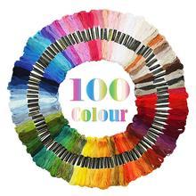 6 нитей 100 цвета радуги вышивка нитки для вышивки крестом нить DIY ремесло Горячая