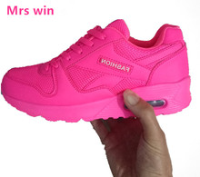 Men women Running Shoes Spring and Autumn Breatable Sport Shoes red Comfortable Sneakers air Net Athletic