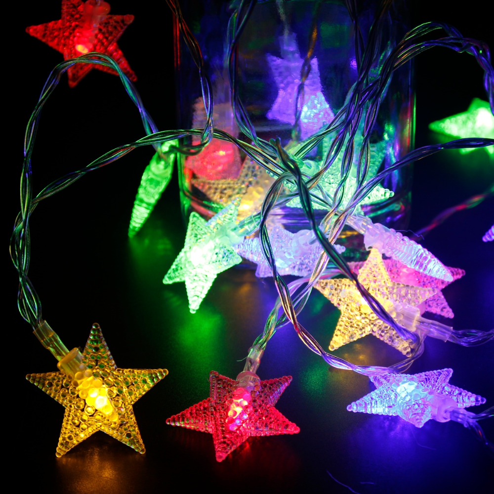 fengrise 20pcs 3m stars led string merry christmas gift light garlands christmas decorations for home lamps party new year decor in tree toppers from home