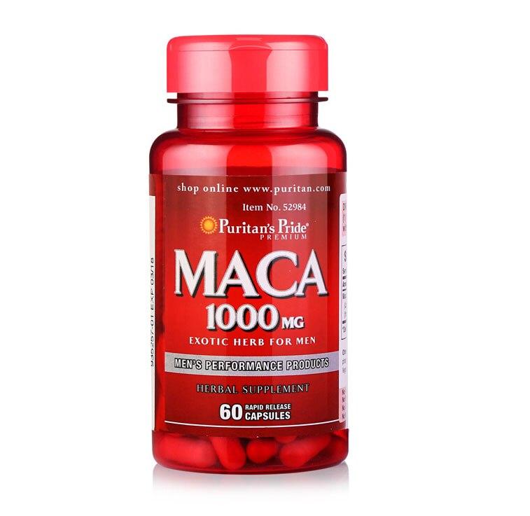 MACA 1000 mg 60 pcs Free shipping 1kg high quality peru black maca extract powder 10 1 peru maca lepidium meyenii free shipping