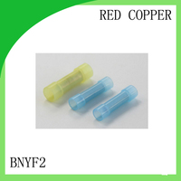 red copper 1000 PCS BNYF2 cold-pressure terminal  long-wide insulation in the middle connector cable lug