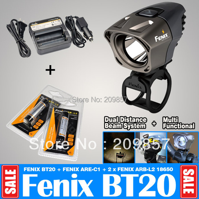 Free Shipping Fenix BT20 750LM Bike Light Bicycle Lantern + 2 X Fenix 18650  + Fenix