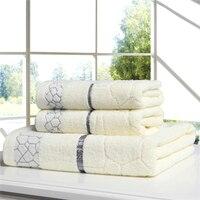 3Pcs 100 Cotton Plain Bath Towel Set For Adults High Quality Soft Luxury Beach Towel Large