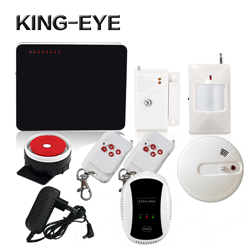 433mhz quad band wireless gsm safe house alarm system home security wired siren infrared sensor smoke detector gas leak sensor wireless smoke fire detector for wireless for touch keypad panel wifi gsm home security burglar voice alarm system