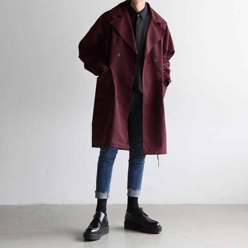 Extérieur Loisirs Hommes Collier Costume Les La Marée Long Un Nouveau Manteau Style De Bourgogne Beau 2018 Costumes À Mode IvC0wq