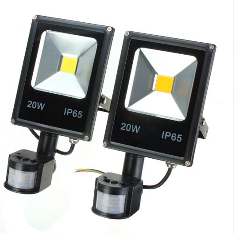 Outdoor 10W 20W 30W 50W PIR Projection Lamp 220V 240V 100W Led Floodlight with Motion detective Sensor for Gargen Wall Lamp