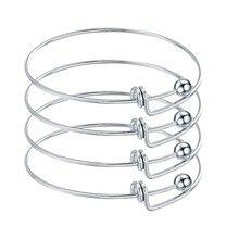 5 шт нержавеющей стали пустой Регулируемый Расширяемый провод браслеты для DIY Шарм для браслета, украшения