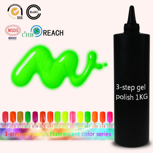 Choose Any 1 Flourescent From 162 Colors Gelpolish Soak Off UV Lamp Nail Art Nail Gel Polish Long Lasting Gel Nail Polish 1KG