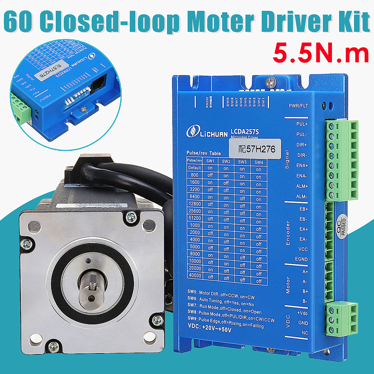 LCDA257S+LC60H2127 2PH 5.5N.m Closed Loop Stepper Motor Driver Kit With 2.7M Cable robin hood 4d xxray master mighty jaxx jason freeny anatomy cartoon ornament