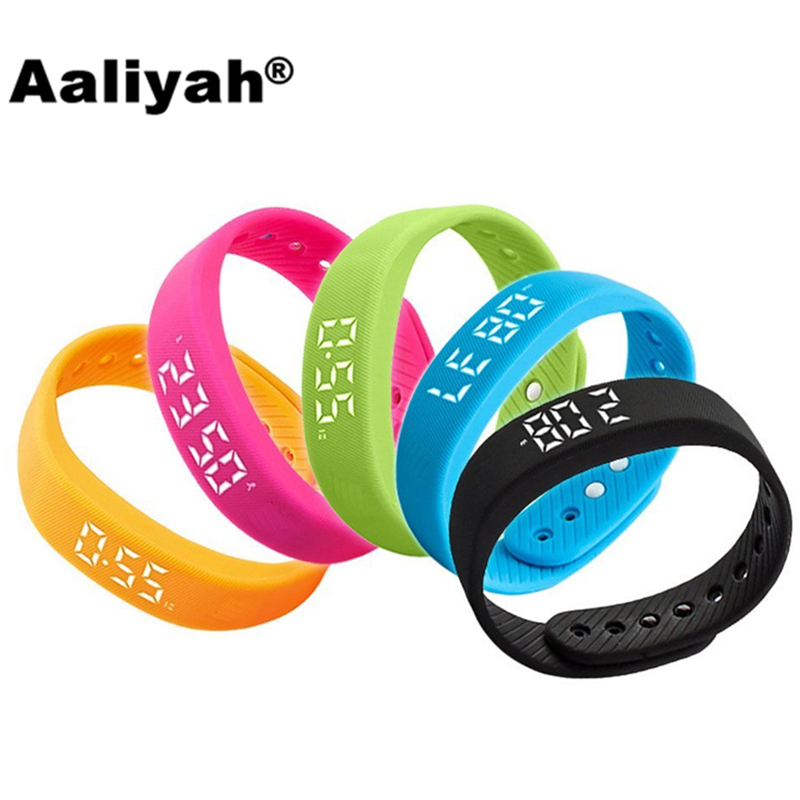 Aaliyah 3D T5 Smart Wristbands Watch Children LED Display Sports Gauge Fitness Bracelet Pedometers Smart Step
