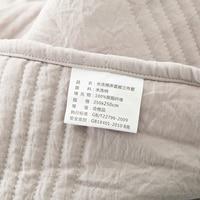 2018 светло Кофе Стёганое одеяло ing Лето Стёганое одеяло мыть полиэстер границы покрывало набор 3 шт. одеяла 250x250 см шить покрывала