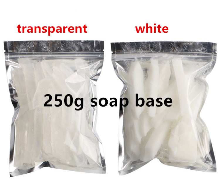 250g Transparent White Soap Base DIY Handmade Soap Raw Material Soap Making Hand Body Cloth Washing