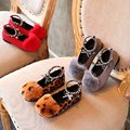 Fashion Autumn & Winter Children Shoe Rabbit's hair Cotton-padded shoes Kids Girl Massage Three Color Child Mid Single Footwear