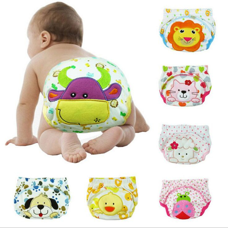 2017 10 pièces bébé couches lavable réutilisable couches grille/coton formation pantalon tissu couche bébé hiver été Version couches