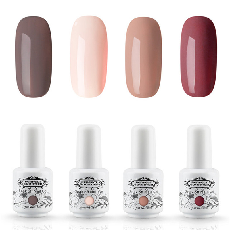 Nail Art Gel Nail Polish Set Any 4 Pieces 8ml 240 Color Perfect Summer Premium Long Last UV LED Gel Lacquer Manicure Gel Varnish