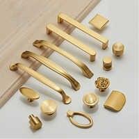 Différents styles/boutons d'armoire en laiton massif or et poignées tiroirs meubles armoire armoire boutons dorés
