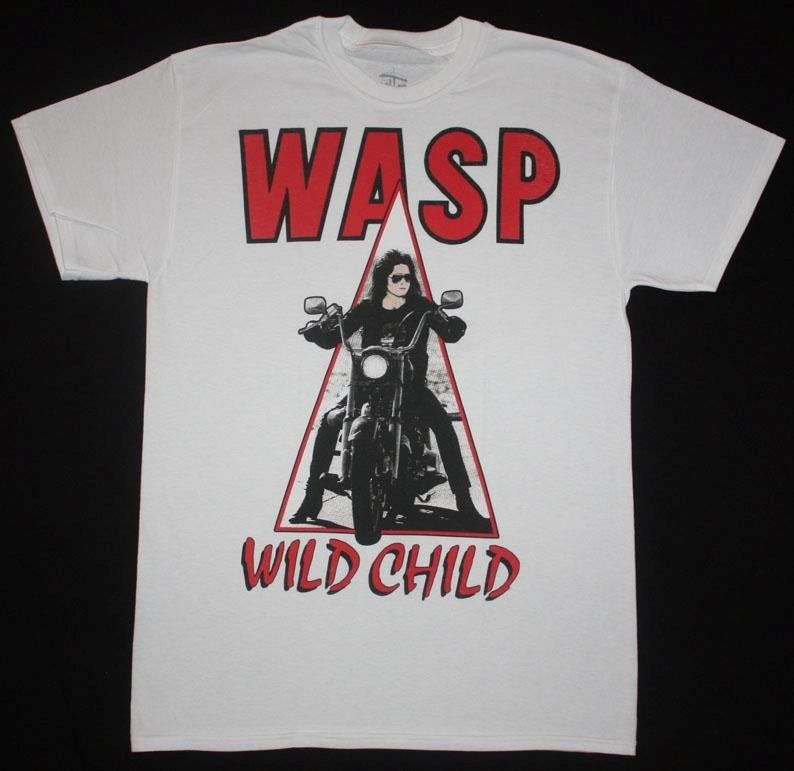 W.A.S.P. WILD CHILD85 HEAVY METAL BAND WASP TWISTED SISTER NEW WHITE T-SHIRT High Quality Men T Shirt top tee