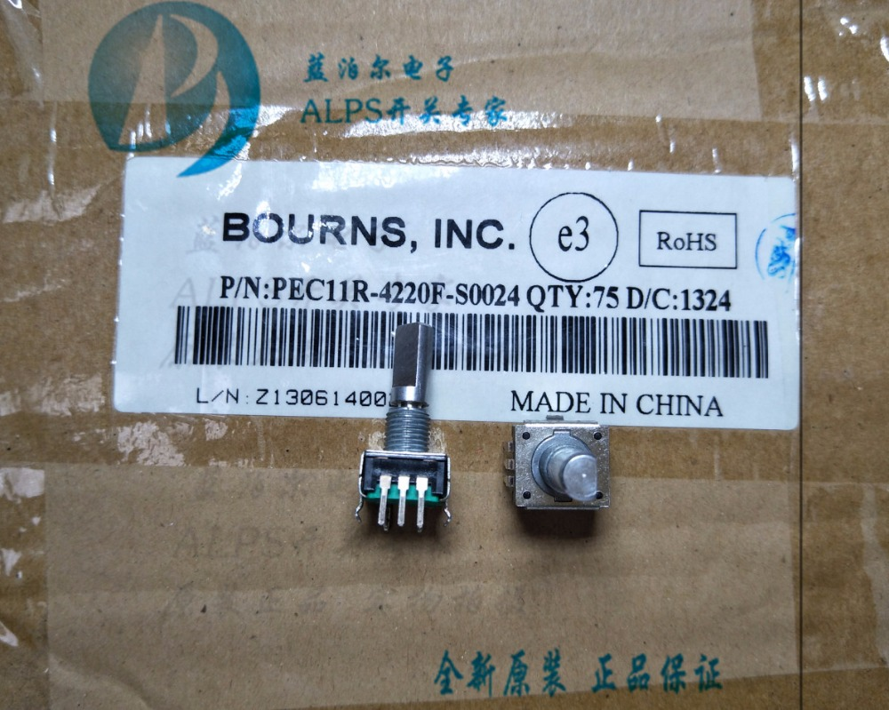 Original new 100% PEC11R-4220F-S0024 rotary encoder potentiometer pulse per turn 24 (SWITCH) areyourshop potentiometer rotary encoder with switch ec12 audio digital potentiometer 15mm handle 2 8pcs wholesale switches